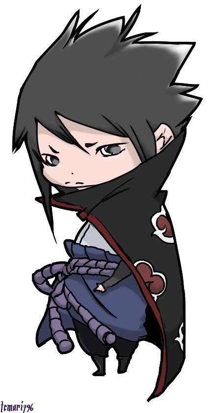 Chibi Sasuke creado por Temari796, publicado en Deviantart