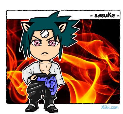 Chibi Sasuke creado por xiibi.com